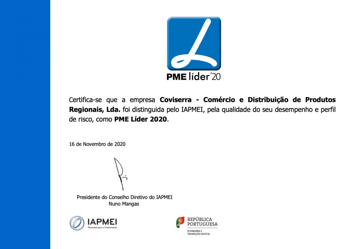 Atribuição de Estatuto - PME líder'20